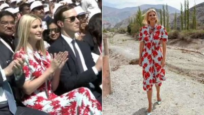 Is Ivanka Trump come to India wearing old dress? Pictures going viral