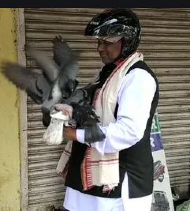 Odisha: This traffic policeman is recognised by pigeons and other birds, named as Birdman cop
