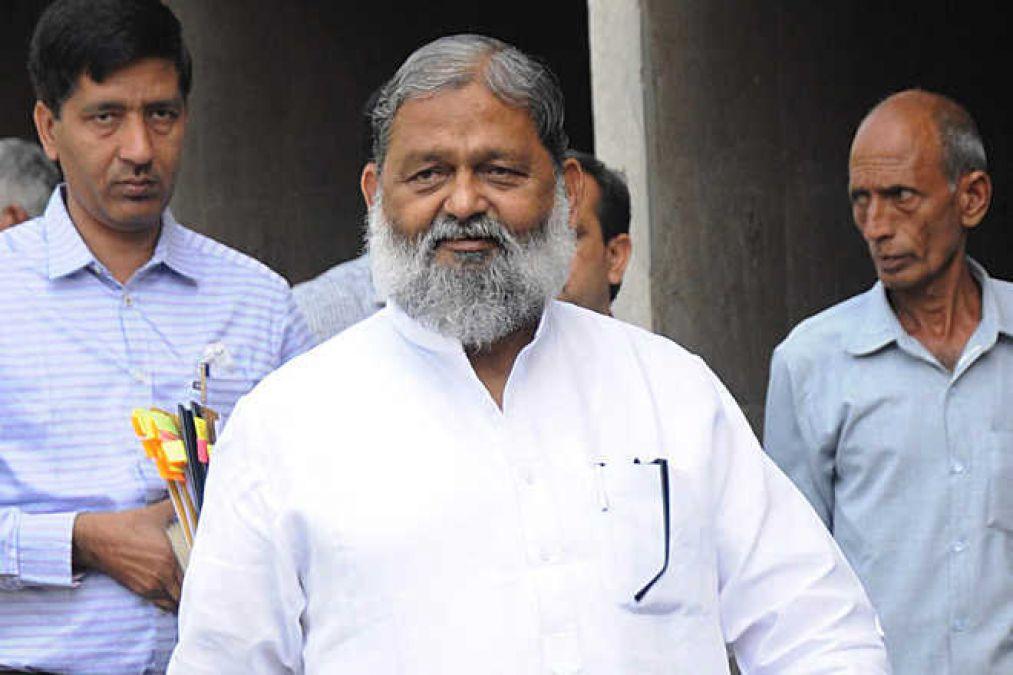 गृहमंत्री अनिल विज को सीएम कार्यालय से मिल सकता है बड़ा झटका, इस विभाग को अलग करने की तैयारी