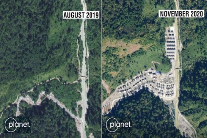 चीन ने अरुणाचल प्रदेश में बसा डाला गाँव, सैटेलाइट ने पकड़ी 'ड्रैगन' की चाल