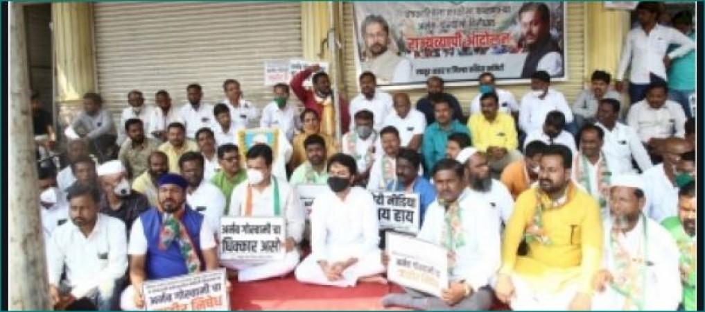जानिए क्यों महाराष्ट्र कांग्रेस ने की अर्नब गोस्वामी को गिरफ्तार करने की मांग