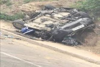 Woman saves her son before she died in a road accident