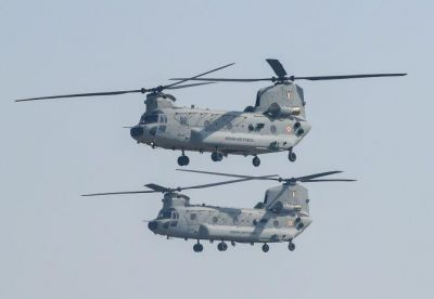 Republic Day Parade 2020: Chinook helicopter flashes in Rajpath