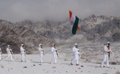 Tricolor hoisted at 17,000 feet, rare photo surfaced on social media