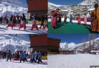 Even in minus 8 degree temperature, enthusiasm of Republic Day parade was shown in children