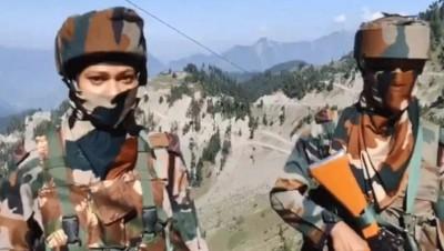Assam Rifles' female security force bridge gap with locals in J-K