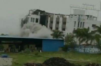 Ujjain: Millions of luxurious hotel demolished in moments, watch video here