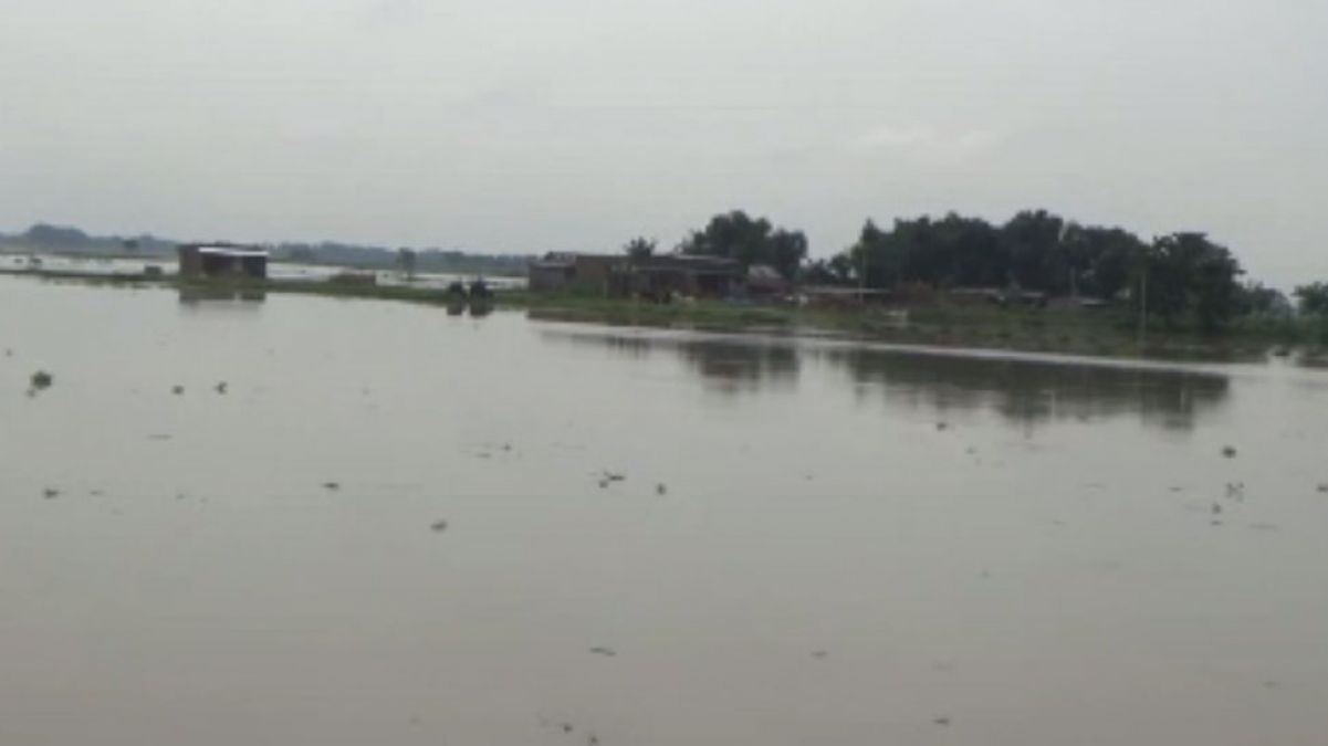 Bihar: Flood water inundated several villages in Araria district, villages transformed into