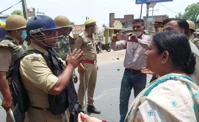 Two BJP workers arrested for slapping Etawah City SP