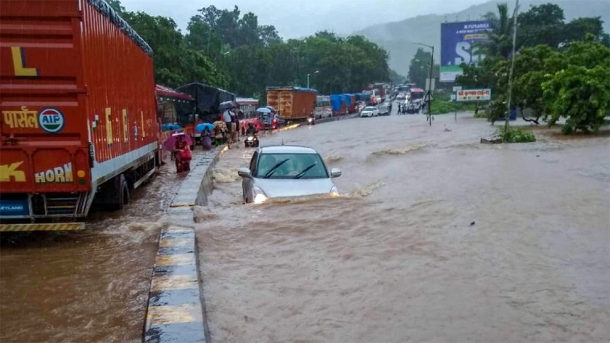 Mumbai-Goa Highway closed due to flood like condition in many parts of