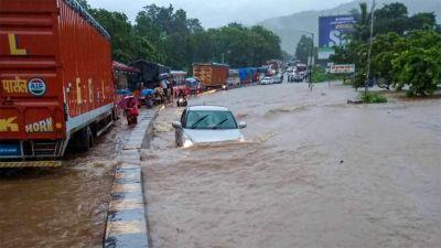 Mumbai-Goa Highway closed due to flood like condition in many parts of Maharashtra