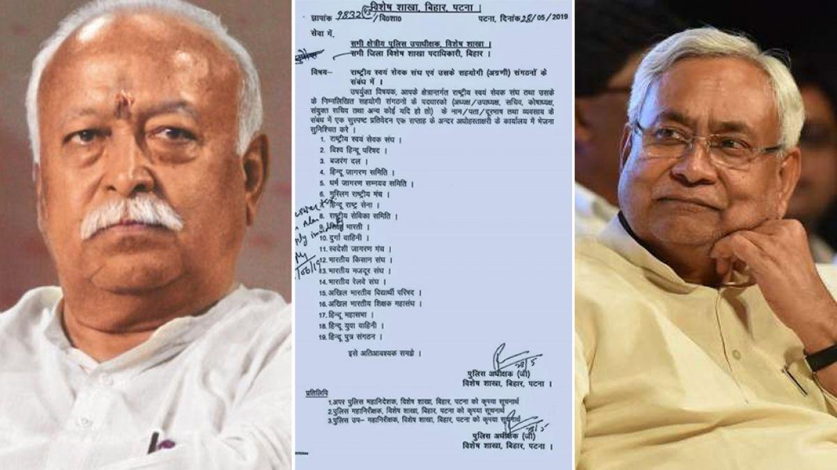 RSS जासूसी मामला: बिहार मंत्री का दावा, कहा- संघ को लेकर जारी नहीं हुई कोई चिट्ठी