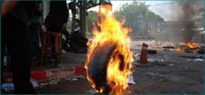 Burning tyres found in front of three temples in Coimbatore
