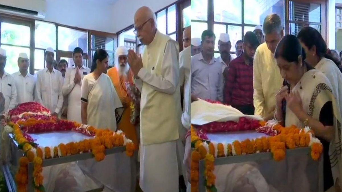 आडवाणी और सुषमा स्वराज ने दी शीला दीक्षित को श्रद्धांजलि, 2.30 बजे होगा अंतिम संस्कार