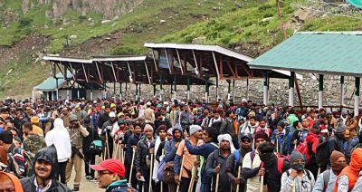 अमरनाथ यात्रा : भक्तों के सैलाब ने तोड़ा रिकॉर्ड, 24 दिनों में करीब 3 लाख लोंगों ने किए दर्शन