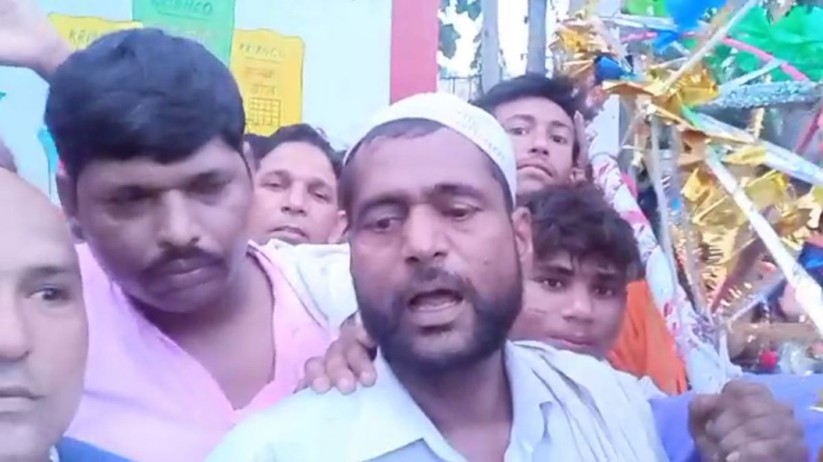 The Muslim youth picked up Kanwar, says, 'want to convey a message of brotherhood'