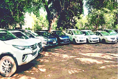 Stolen luxury vehicles are used in election campaigning
