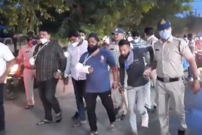 Indore cops arrested 'wanted' goons, made them parade in public
