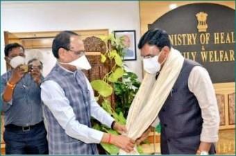 CM Shivraj Singh Chouhan meets Union Health Minister Mansukh Mandaviya
