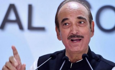 Ghulam Nabi Azad arrives in Jammu on a visit for Assembly elections