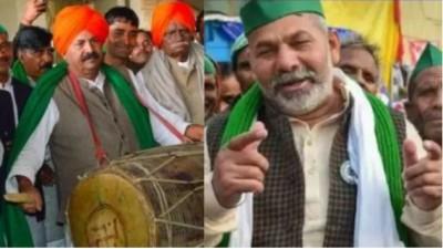 Farmers agitation: Celebration of Rakesh Tikait's birthday at Ghazipur border