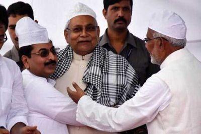 CM Nitish Kumar reaches Gandhi Maidan on Eid occasion, greets all