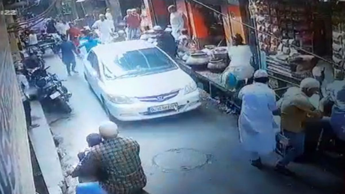 The man who drives car ran between the people who were performing namaz is arrested