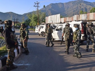 Jammu and Kashmir: Security forces cordon terrorists based on intelligence input, encounter continues