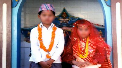 One in every 10 boys in Nepal so child marriages