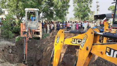 Two-year-old boy trapped in Borewell, rescue operation underway