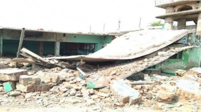 Madarsa building damaged in blast in Banka, Maulana died due to suffocation