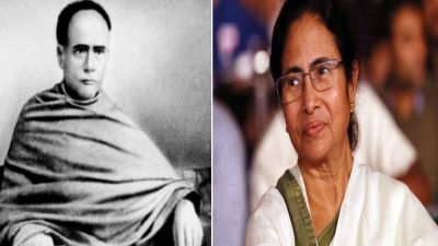 statue of Vidyasagar is being installed In the presence of Mamata Banerjee,two student parties clashed