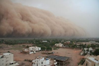 Sudden dust storm in several states, air traffic affected in capital