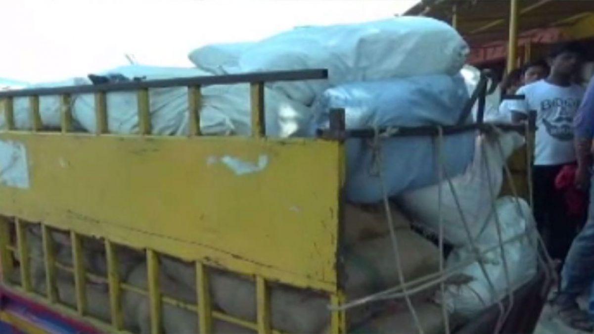 Bihar: 11 quintals of polyethylene caught in raids