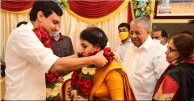 Kerala CM's daughter Veena tied knots with leader Mohammed Riyas