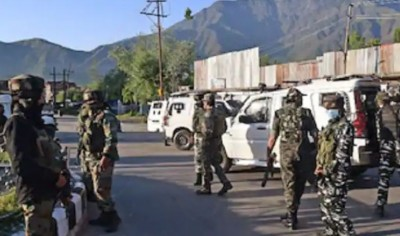 J&K: Encounter between terrorists and security forces in Naugam