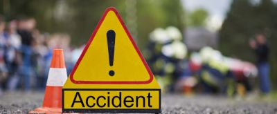Scooty learner wife came on road dies in a road accident, husband critically injured