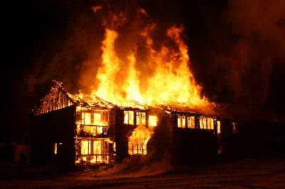 Massive fire break out at Janjgir's house, two children killed