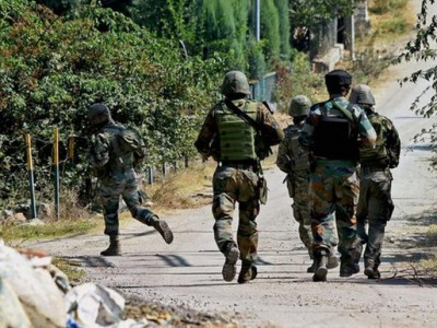 Terrorist attacks security forces during search operation, encounter in Kulgam