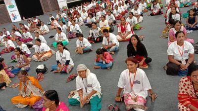 मुस्लिम महिलाओं ने किया योगाभ्यास, पीएम मोदी को कहा धन्यवाद्