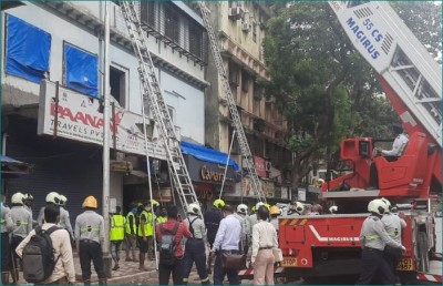 A portion of a building collapsed in Fort area of Mumbai, 40 people rescued