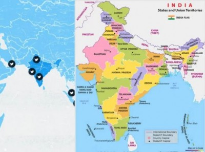 Twitter shows Jammu Kashmir and Ladakh out of India's map