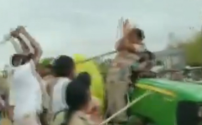 VIDEO: Shameful act of TRS workers, beats woman officer who came for tree plantation