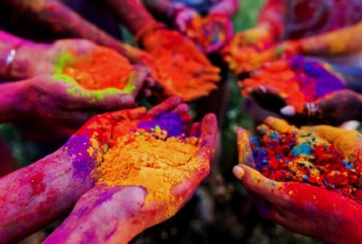 This village celebrates Holi five days before the festival
