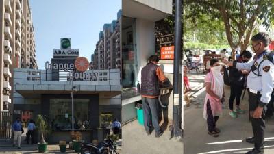Society lockdown in Ghaziabad due to corona virus