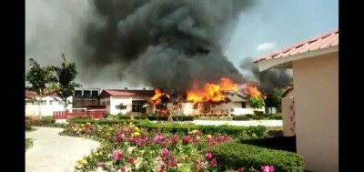 Fire in Baba Ramdev's ashram creates stir
