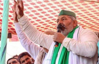 Rakesh Tikait protests over Lathi charge on farmer, said 'If we have to stay there...'