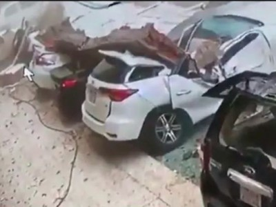 Video of damaged cars is going viral among cyclone Tauktae, know what is the truth