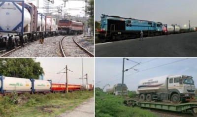 Railways create history during Corona period, express delivered 20,000 Metric Tonnes of oxygen