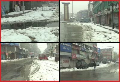 Snowfall increases people's problems, disrupts life in Kashmir and Himachal